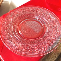 """VTG SET OF 2 INDIANA CUT PRESSED CLEAR GLASS 7"""" PLATE DISH image 1"""