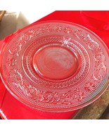 "VTG SET OF 2 INDIANA CUT PRESSED CLEAR GLASS 7"" PLATE DISH - $20.59"