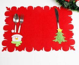 (01)Christmas Table Mats Fork Sets of Dual-use Non-woven Fabric Table Ma... - $12.00