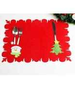 (01)Christmas Table Mats Fork Sets of Dual-use Non-woven Fabric Table Ma... - $12.00