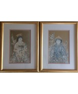 EDNA HIBEL pair MAGNIFICENT LIMITED EDITION NUMBERED SIGNED mat & framed... - $139.90