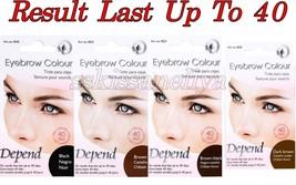 Depend Eybrow Colour Tint Days Black / Brown /Dark Brown Result Last Up ... - $12.99