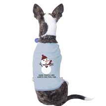Some People Are Worth Melting For Snowman Pets Sky Blue Shirt - $14.99
