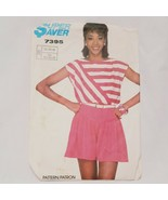 Misses Shorts Top Size 10 12 14 Simplicity 7395 Precut for size 14 Easy ... - $15.99