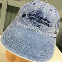 Columbia Sportswear Denim Strapback Retro Distressed Baseball Cap Hat - $14.67
