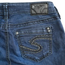 Silver Suki High Rise Super Skinny Dark Wash Stretch Jeans Womens 26 26x31 - $29.56