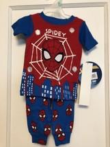 MARVEL SPIDERMAN Baby Boys  Pj's  9 Months 2 PIECE  SHORT SLEEVE TOP  PA... - $14.84