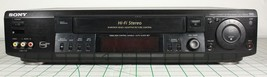 Sony VCR VHS Player Recorder 4 Head Hi Fi Stereo Home Theater SLV-789HF Tested - $42.08