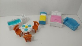 Fisher Price Sweet Streets furniture set lot for cottage pink roof doll ... - $19.79