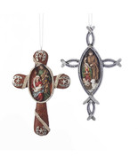 Western Nativity Cross Ornament - $14.95