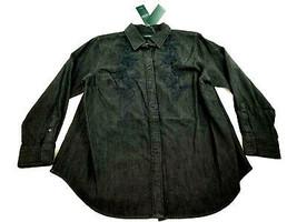 Neu Ralph Lauren Polo Damen Jeans Hemd 202684538001 Schwarz - $50.47