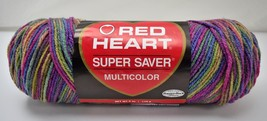 Red Heart Super Saver Multicolor Ombre Worsted Yarn - 1 Skein Artist Print - $9.45