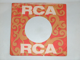VTG (1) 1969 RCA 45 RPM Red & Gold Vinyl Wax Record Protector Sleeve VG+ - £5.67 GBP
