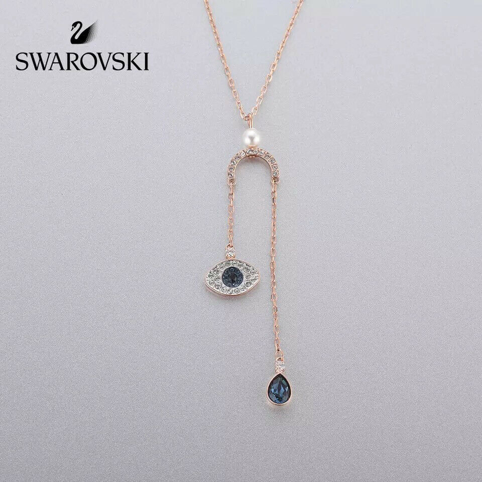 Swarovski DUO eye of the devil pendant crystal Necklace jewelry best gift image 2