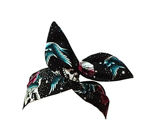 National Flavor Morden Retro Style Headwrap/Hair Band For Girls/Female (Skulls)