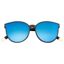 Katzenaugen Sonnenbrille Damen Matt Verspiegelt Spiegelglas Reflektieren... - $8.51
