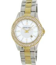 Michael Kors Women's Watch Ladies Two-Tone Steel Bracelet White Dial MK5584 - $191.47