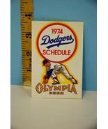 1974 Los Angeles Dodgers Baseball Pocket Schedule Olympia Beer - $3.96