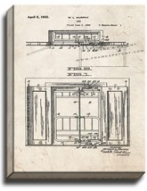 Murphy Bed Patent Print Old Look on Canvas - $39.95+