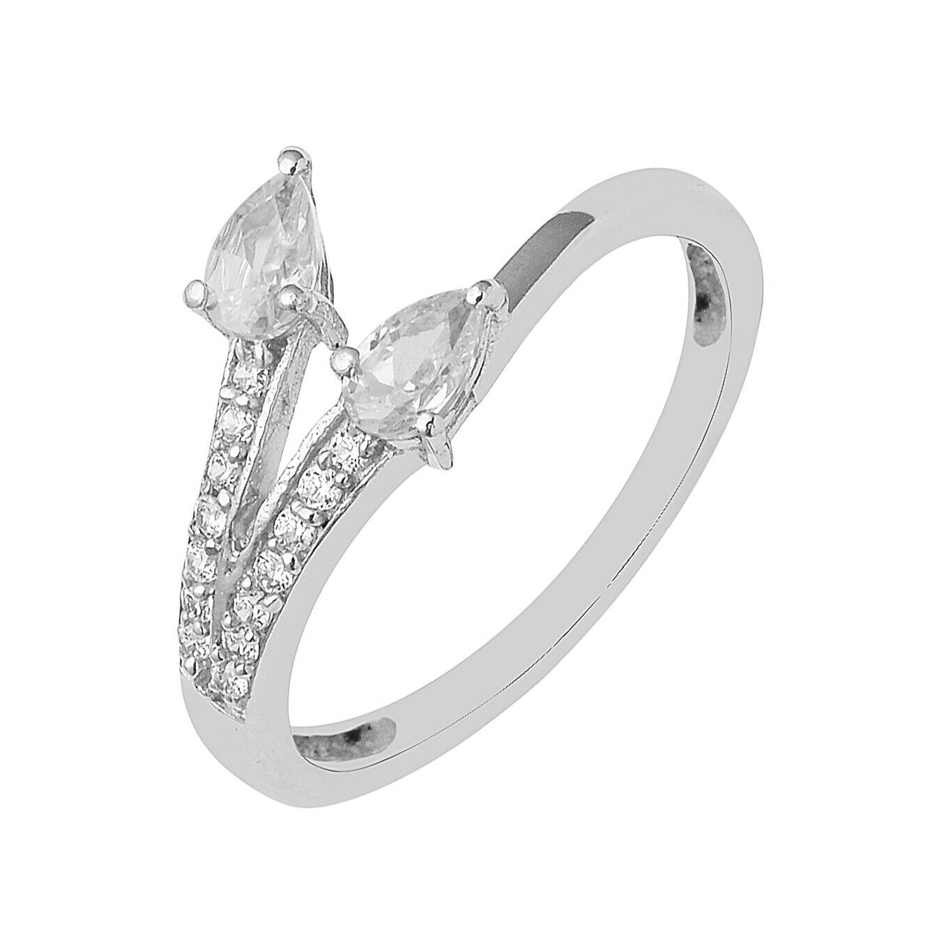 Primary image for Pear Cut Natural Cubic Zircon Gemstone 925 Sterling Silver Women Wedding Ring
