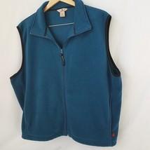 Woolrich Men's Size XL Fleece Full Zipper Front Sleeveless Vest Teal  - $19.79