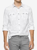 Calvin Klein Jeans Men's Retro Palm-Print Shirt, White, Size XXL, MSRP $69 - $34.64