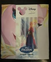 "Disney Frozen Princeses Ana Elsa Bathroom Shower Curtain 70""x72"" Fabric Washable - $16.20"