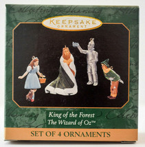 Hallmark  King of the Forest  Wizard of Oz Set of 4  1999  Miniature Orn... - $23.43