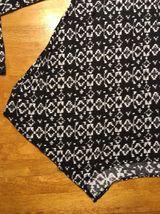 Abercrombie Kid's Girl's Black & White Long Sleeve Shirt - Blouse - Size: Small image 10