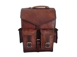 Men Genuine Leather Vintage Laptop Backpack Rucksack Messenger Bag Satch... - $58.34+