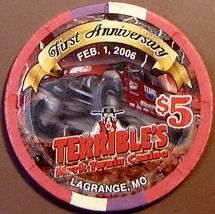 $5 Casino Chip. Terrible's, Lagrange, MO. 1st Anniversary. W35. - $5.99