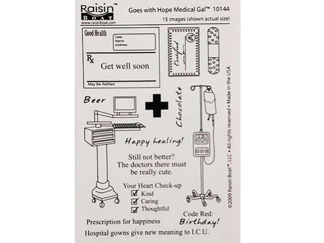 Raisin Boat Goes with Hope Medical Gal Clear Acrylic Stamp Set #10144