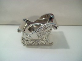 """LENOX SILVER PLATED 2"""" SLEIGH TEALIGHT CANDLE VOTIVE, HOLIDAY CHRISTMAS ... - $16.61"""