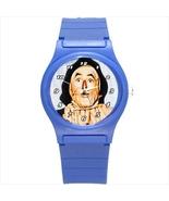 Blue Round Plastic Sport Watch wizard of oz scarecrow - $24.00