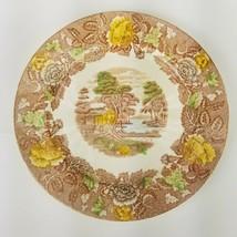 "NASCO China MOUNTAIN WOOD LAND Pattern ~ Dinner Plate ~ 7 1/4"" - $21.49"
