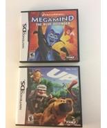 Megamind: The Blue Defender & Disney Pixar UP Nintendo DS Lot Complete - $15.83