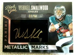 WENDELL SMALLWOOD RC 2016 BLACK GOLD ROOKIE METALLIC MARKS GOLD AUTO#/50... - $39.59