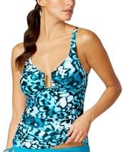 NEW Calvin Klein Mediterranean Hardware Tankini Swim Top L Large - $37.61