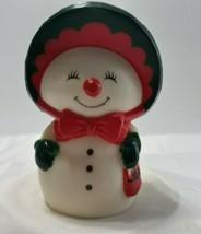 Hallmark Plastic Mrs Frosty Snowman Snow People Salt Shaker - $6.29