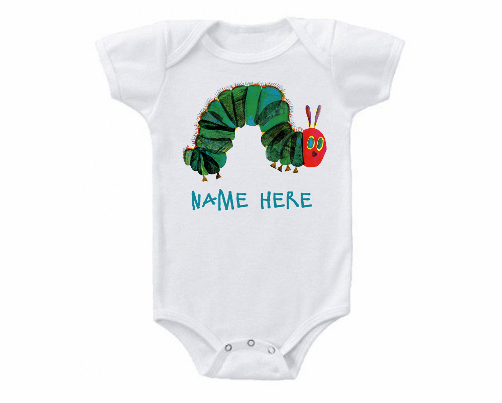 Very Hungry Caterpillar Custom Baby Onesie or Tee Shirt for sale  USA