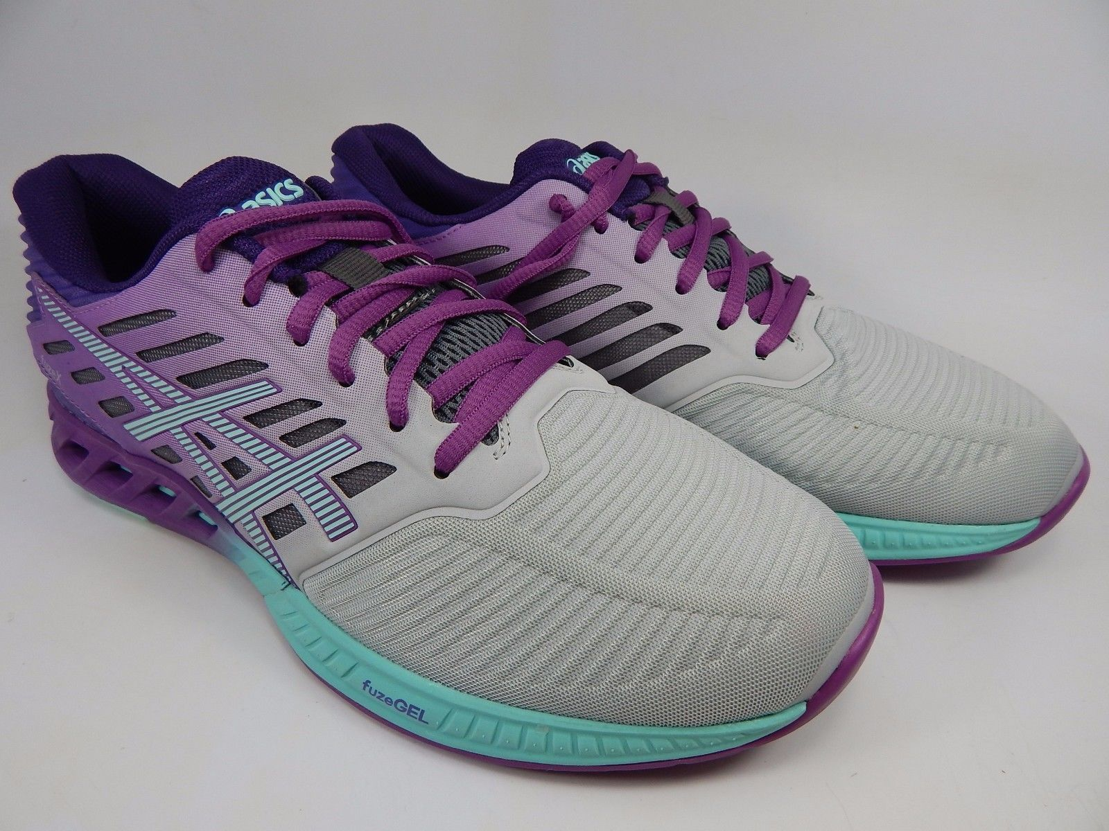Asics FuseX Women's Running Shoes Size US 9.5 M (B) EU 41.5 Silver Purple T689N