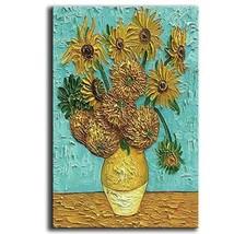 YaSheng Art - Van Gogh Oil Paintings On Canvas Sunflower Flower Artwork ... - $72.55