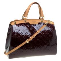Authentic Louis Vuitton Amarante Monogram Vernis Brea GM Bag  retail pri... - $1,295.00