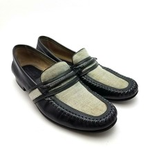 Florsheim Imperial Men's Loafers Black Tweed Leather Casual Slip On Shoe... - $30.37