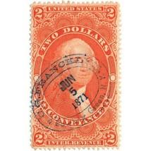 1862-71 $2 U.S. Internal Revenue, George Washington R81c Steamship Cancel - $29.00