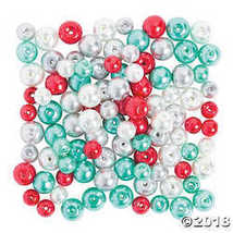 Christmas Winter Pearl Bead Assortment - $7.74