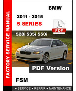 BMW 5 SERIES 2011 2012 2013 2014 2015 F10 WORKSHOP SERVICE REPAIR FACTOR... - $14.95
