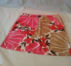 J. Crew Womens Floral Print in Pink Brown White Beige Pencil Skirt Size 6P  - $12.99