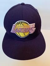 New Era 59FIFTY LA Lakers Cap Hat Size 7 3/8 100% Wool New - $22.18