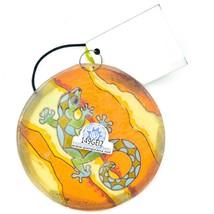 Orange Desert Gecko Lizard Fused Art Glass Ornament Sun Catcher Handmade Ecuador image 2